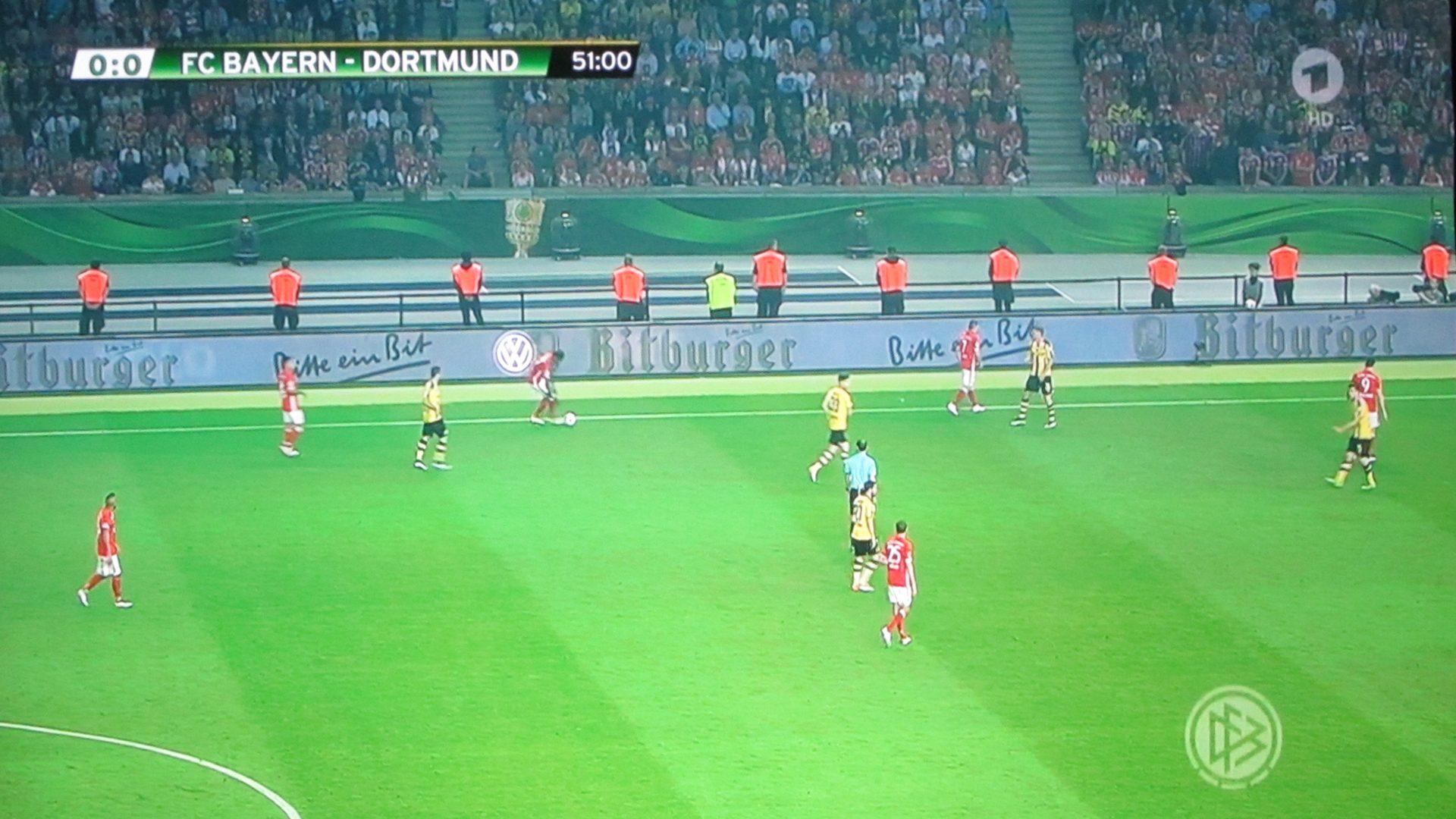 BenQ- W1110S – DFB Finale in der 51Minute (~21:30h)