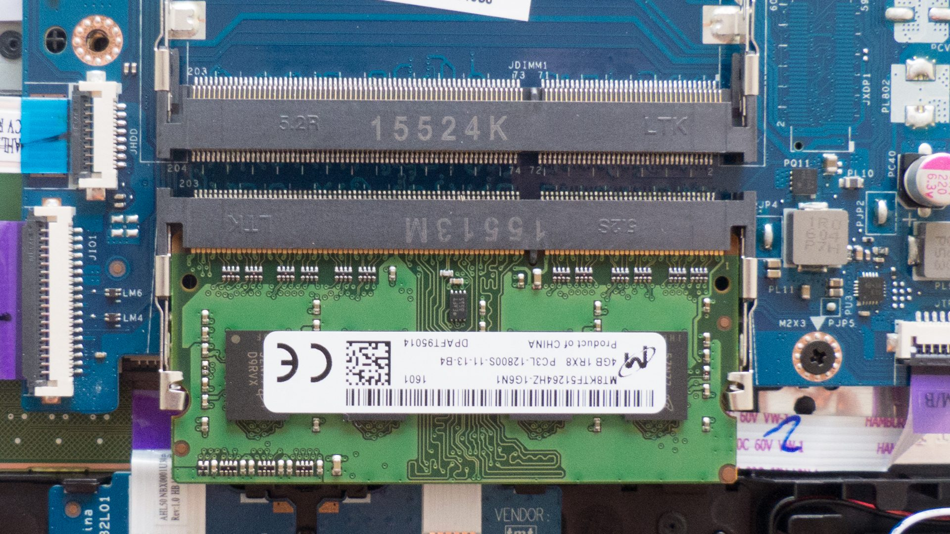 HP 15-ac-158ng – Arbeitsspeicher (ein Slot frei)