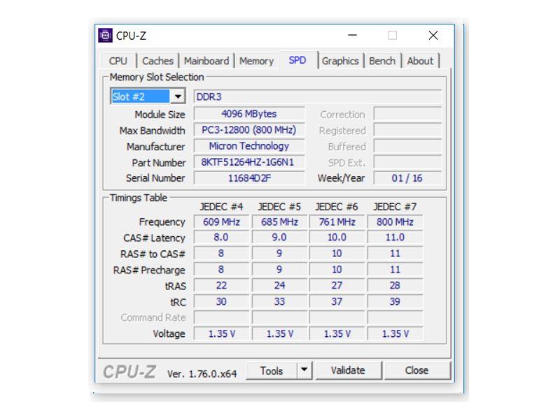 HP 15-ac 158ng – Angaben zum Speicher