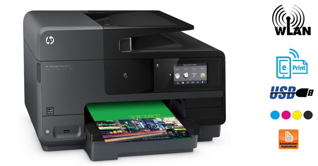 Kurztest: HP Officejet Pro 8620 – Der Alleskönner