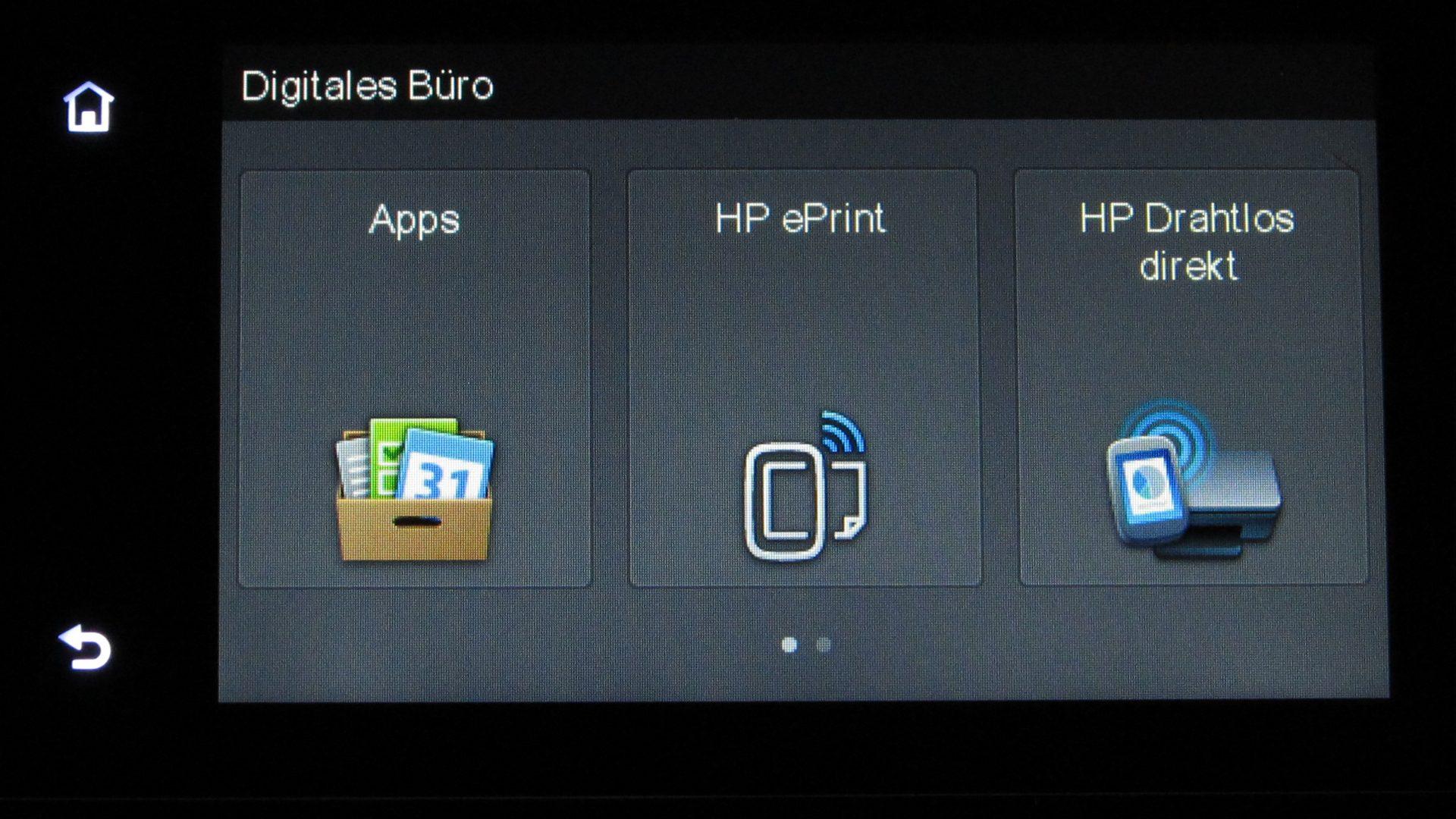 HP-Officejet-Pro-8620–Display-Digitales-Buero
