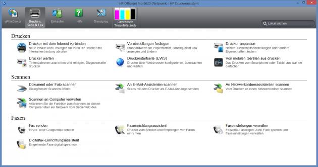 HP-Officejet-Pro-8620 Druckerassistent