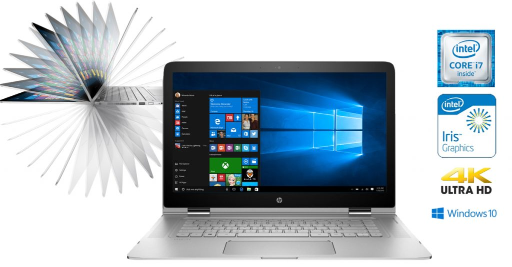 HP Spectre x360 15-ap006ng – Mit 4k-Display, Intel Core i7, Intel Iris 540 Graphics und Windows 10