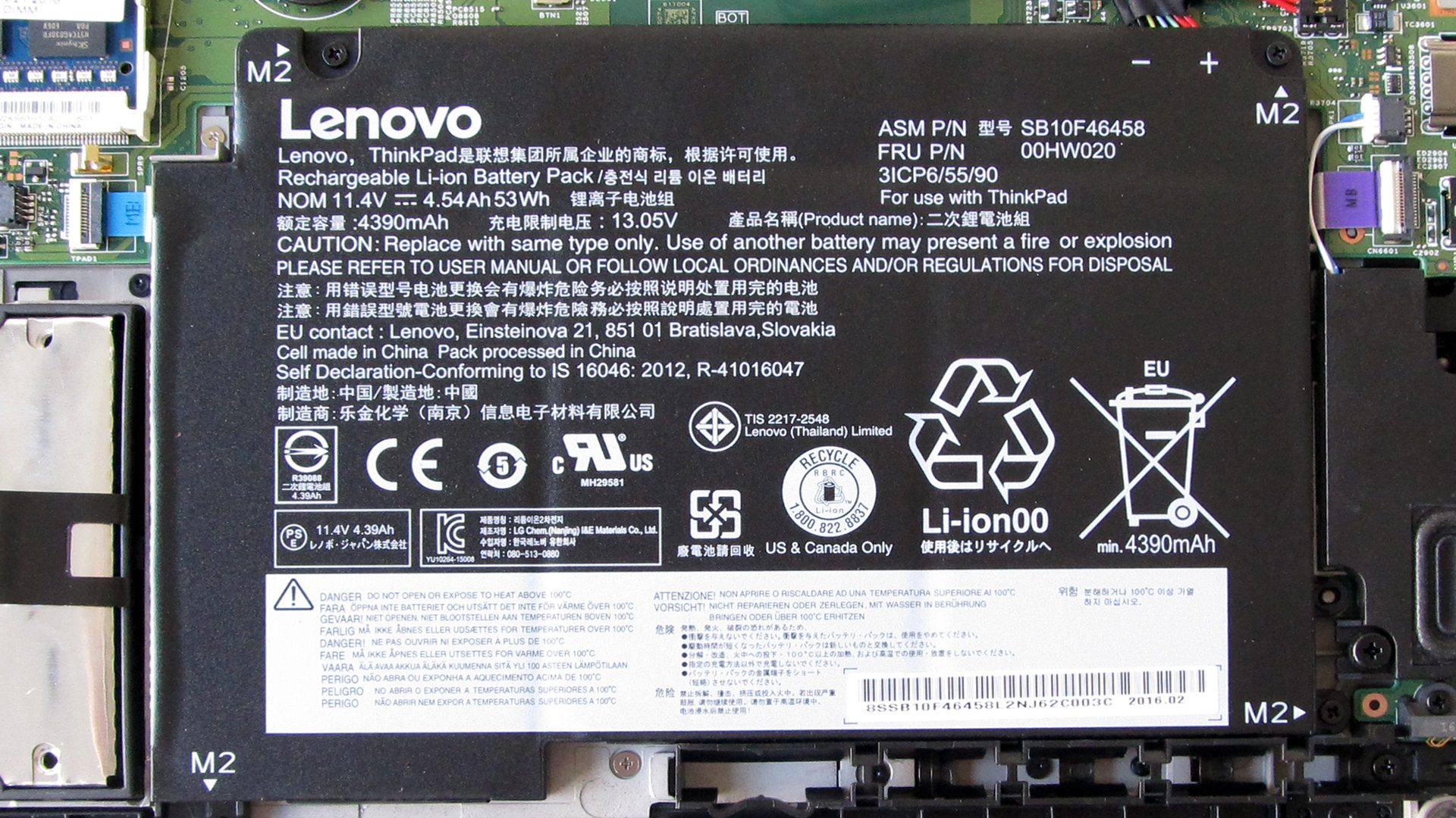 Lenovo Thinkpad Yoga 460 – Akku