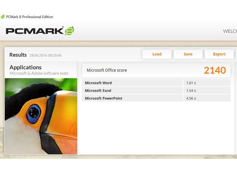 Lenovo Thinkpad Yoga-460 -PC Mark 8 Office