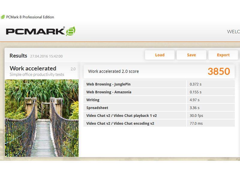 Lenovo Thinkpad Yoga-460 -PC Mark 8 Work