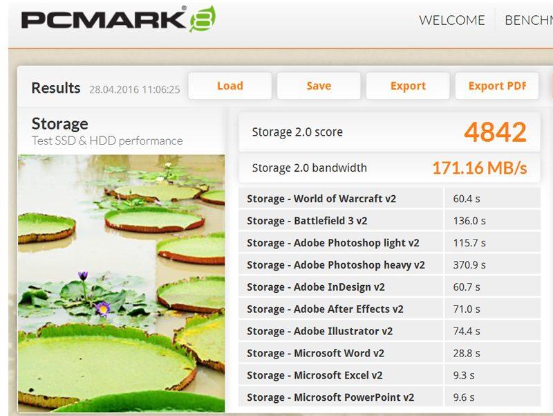 Lenovo Thinkpad Yoga-460 -PC Mark 8 SSD