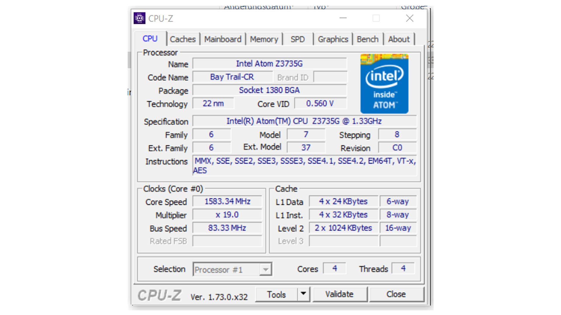 MEDION®-AKOYA®-E8201T-(MD-99751)—CPU-Z—Prozessor