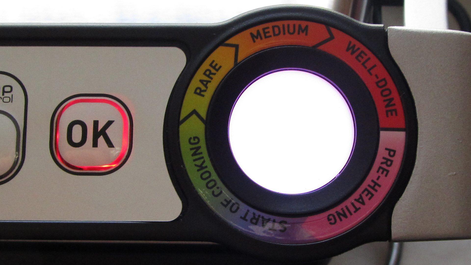 OptiGrill XL – Anzeige beim Grillen (fast fertig)