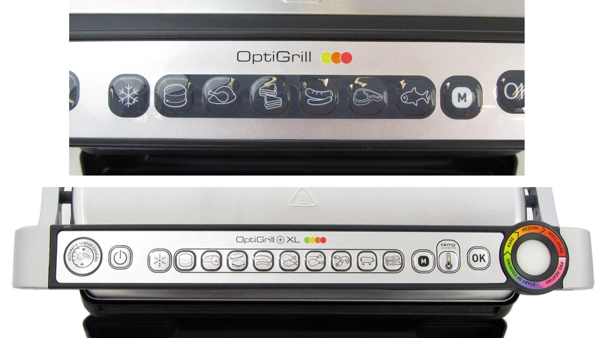 OptiGrill XL – Bedienelemente Vergleich