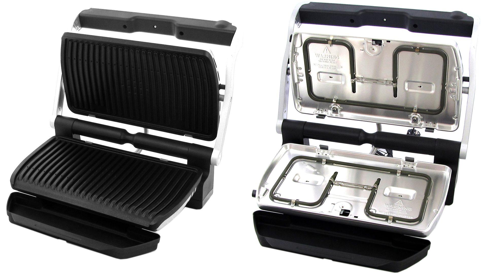 OptiGrill XL – mit und ohne Grillplatten