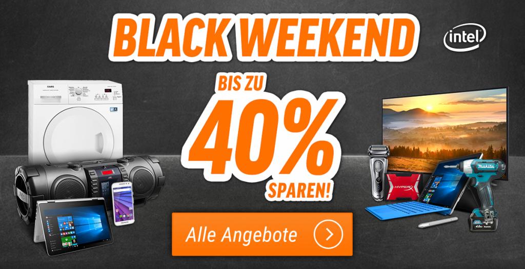 Black Weekend: Über Pfingsten könnt Ihr bei uns bis zu 40% sparen