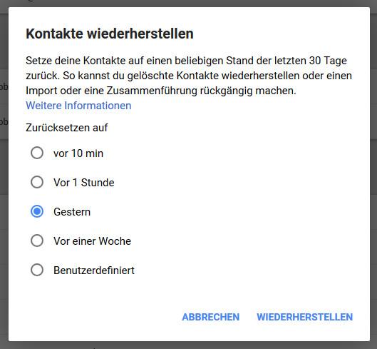 Android Kontakt wiederherstellen Schritt 06