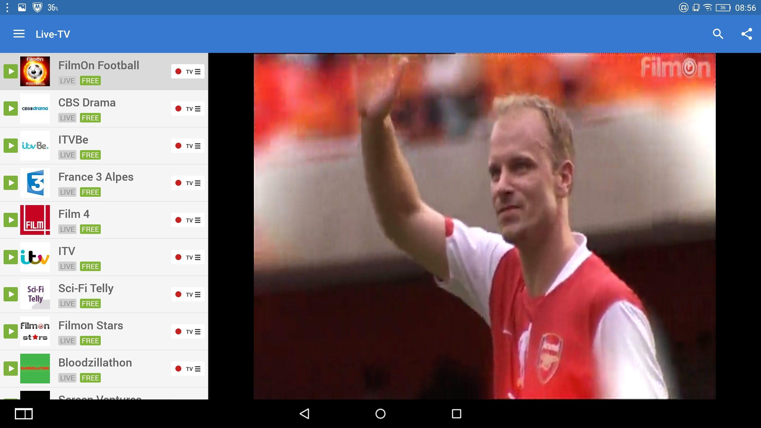 Lenovo Yoga 2 Pro-1380F –  Anwednung – Live TV