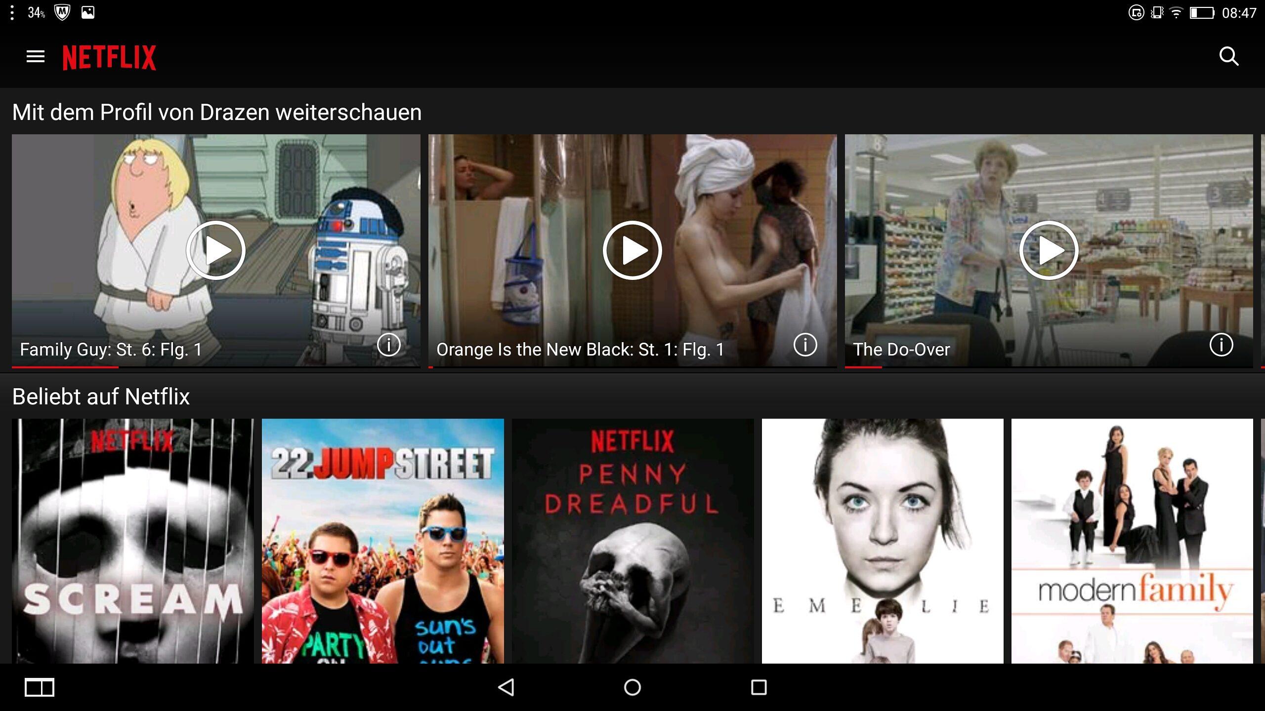 Lenovo Yoga 2 Pro-1380F – Anwednung – Netflix