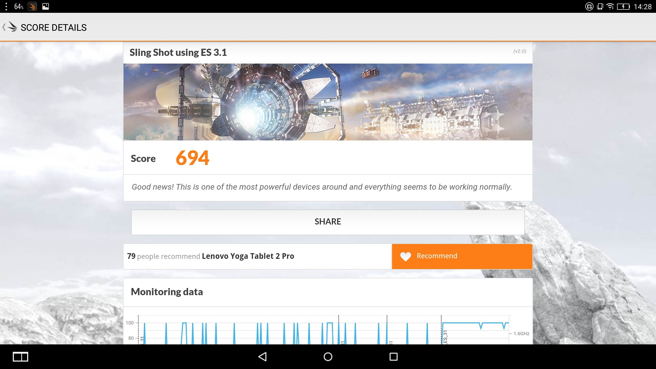 Lenovo Yoga 2 Pro-1380F –  Benchmark – 3D MArk