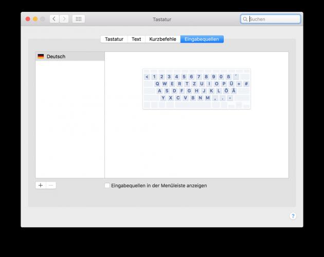 Emojis auf dem Mac 02 Tastatureinstellungen in Menue einblenden