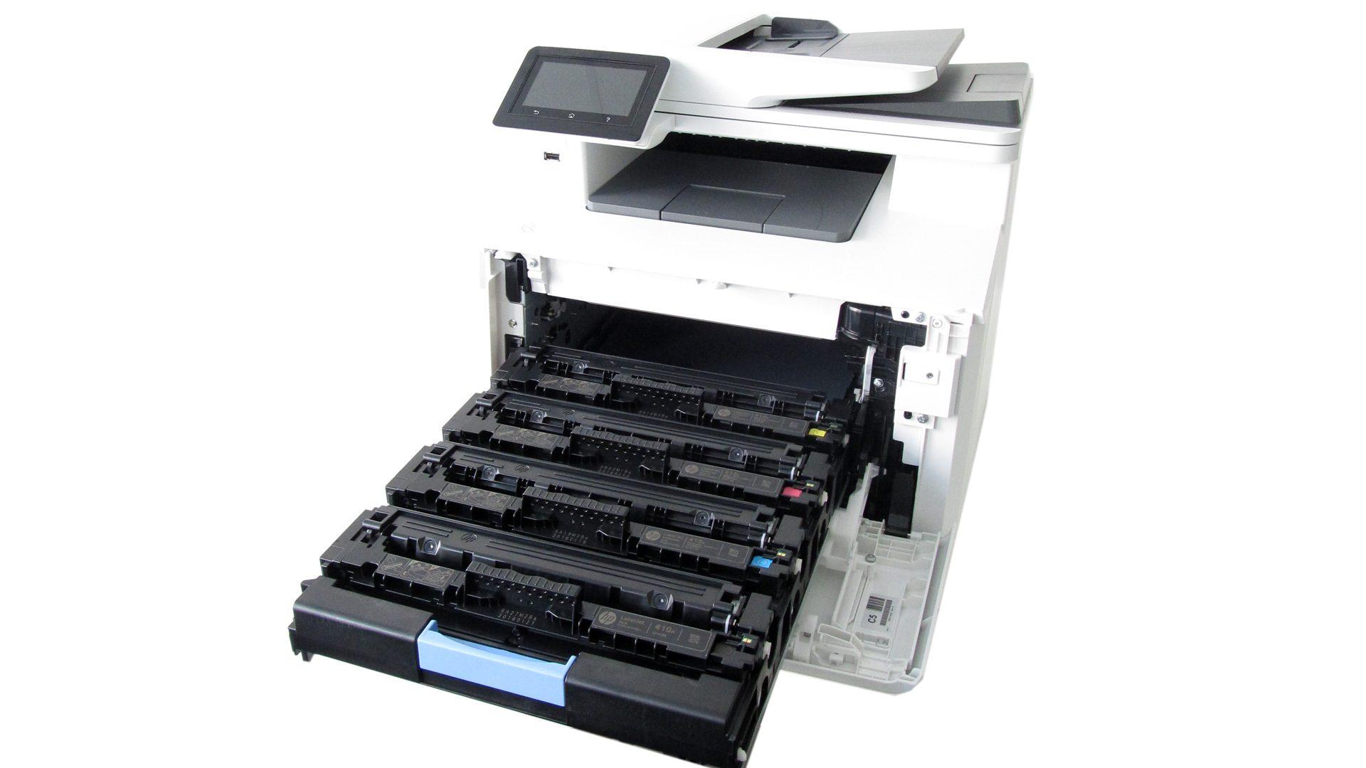 HP-Color-Laser-Jet-Pro-M477dw-Tonerfach