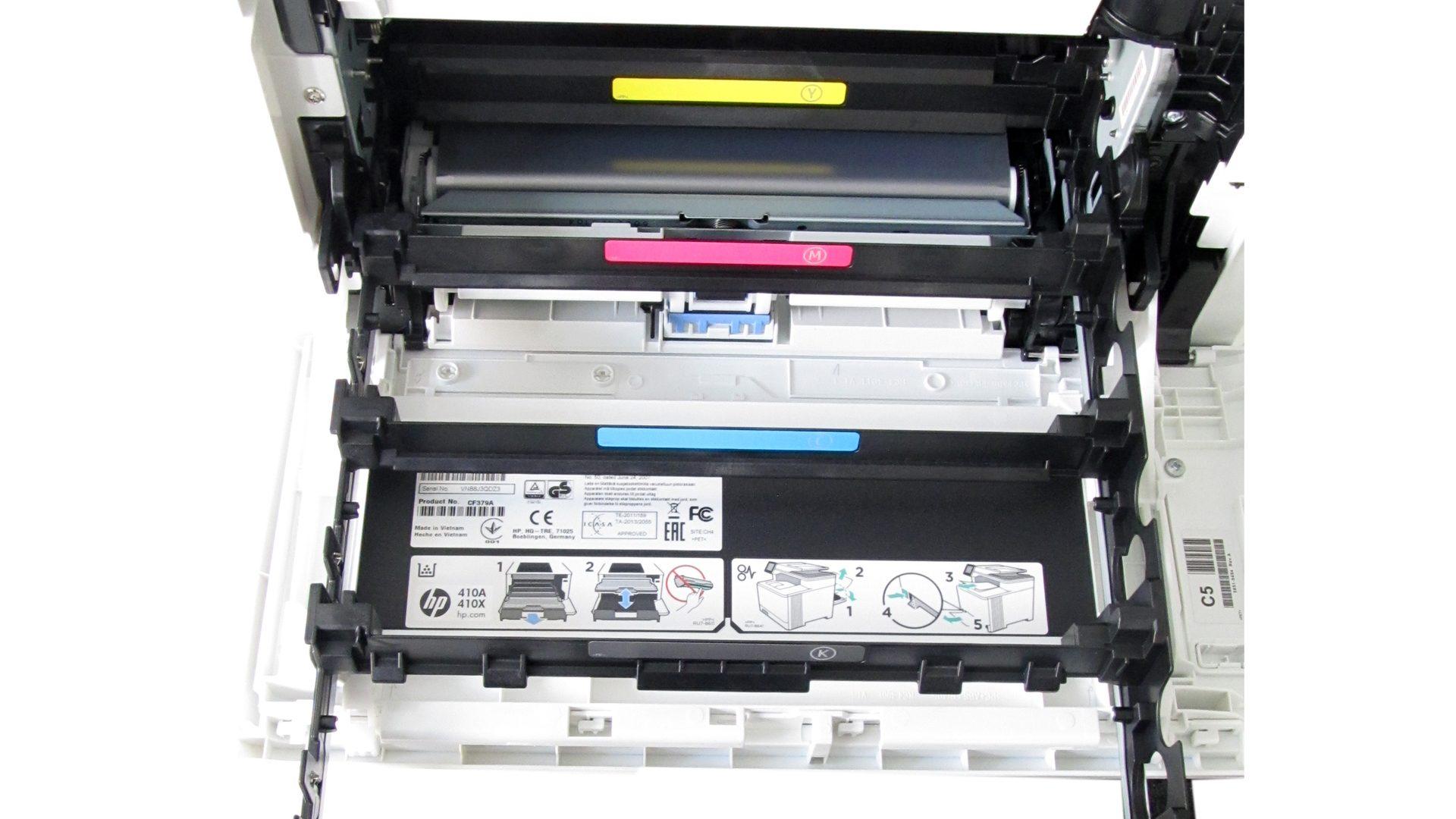 HP-Color-Laser-Jet-Pro-M477dw-Tonerfach-ohne