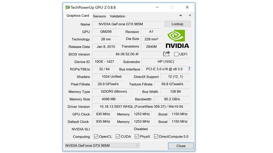 HP-Omen17-GPUz-Nvidia-Grafik
