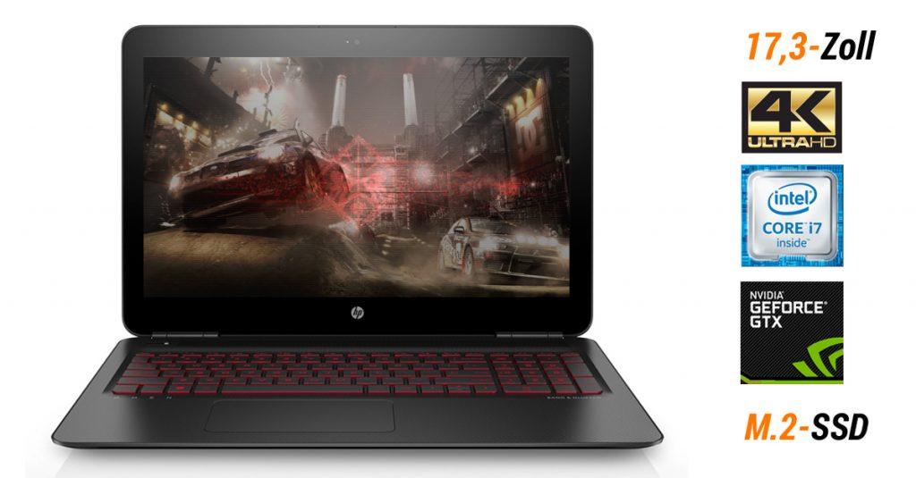 OMEN by HP – Gaming-Notebook mit 17,3-Zoll UHD-Display, Intel Core i7 und schneller SSD