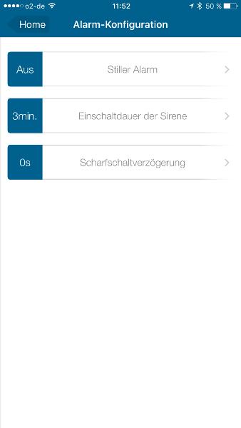 Homematic IP Starter-Set Sicherheit plus Alarm-Konfiguration