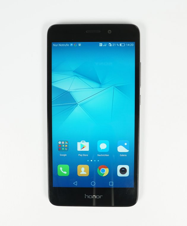 Huawei Honor 5C Frontansicht Display an