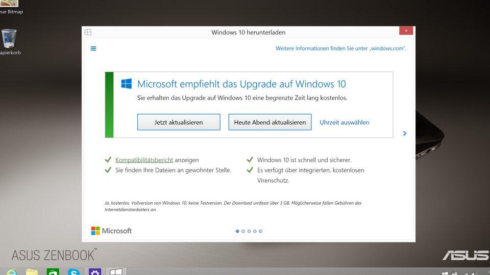 Update für Windows 10 planen oder gleich starten