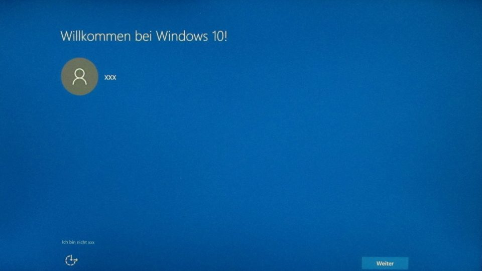 Windows 10 wurde installiert
