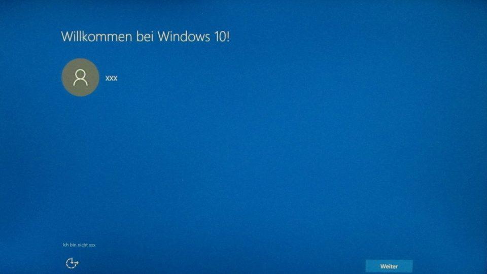 Windows 10 wurde installiert