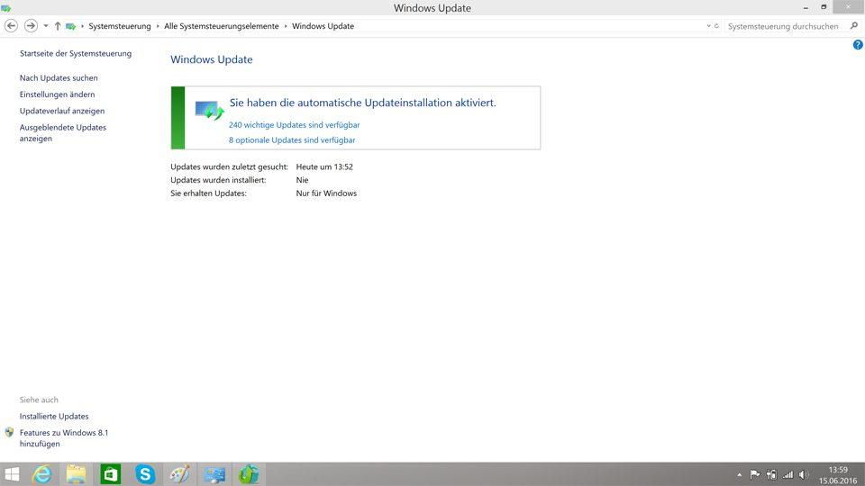 Wichtige Updates für Windows 8.1