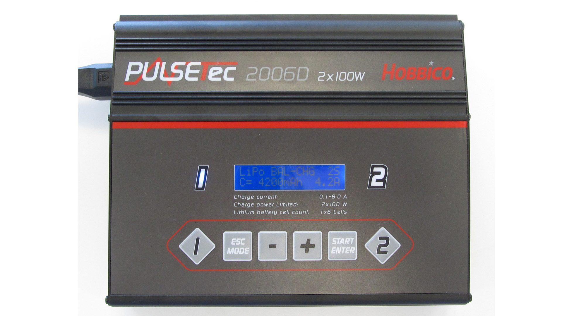 Akku-Ladegerät:  Hobbico PulseTec 2006 – Ladegerät [Ladeprogramme für NiCd-, NiMH-, LiPo-/LiFe-/LiIo- und Blei-Akkus]