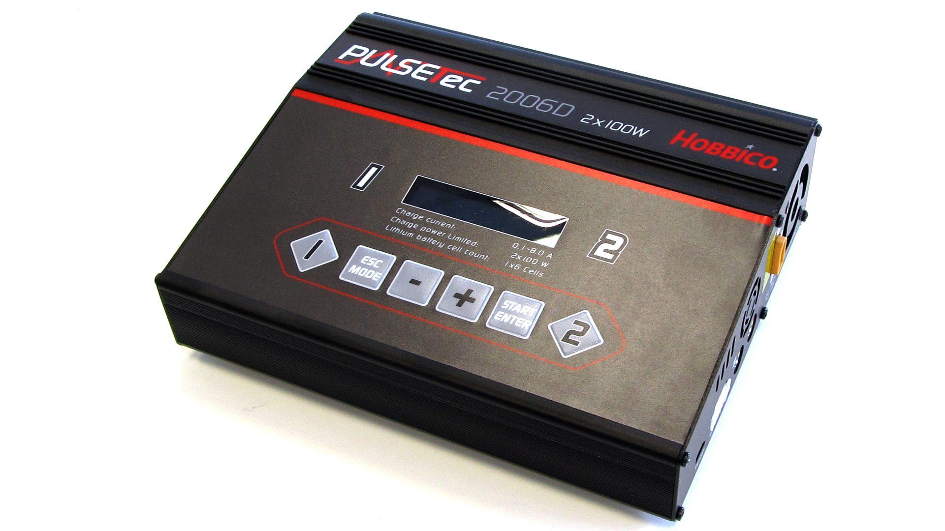 Hobbico PulseTec 2006 – Ladegerät [Ladeprogramme für NiCd-, NiMH-, LiPo-/LiFe-/LiIo- und Blei-Akkus]