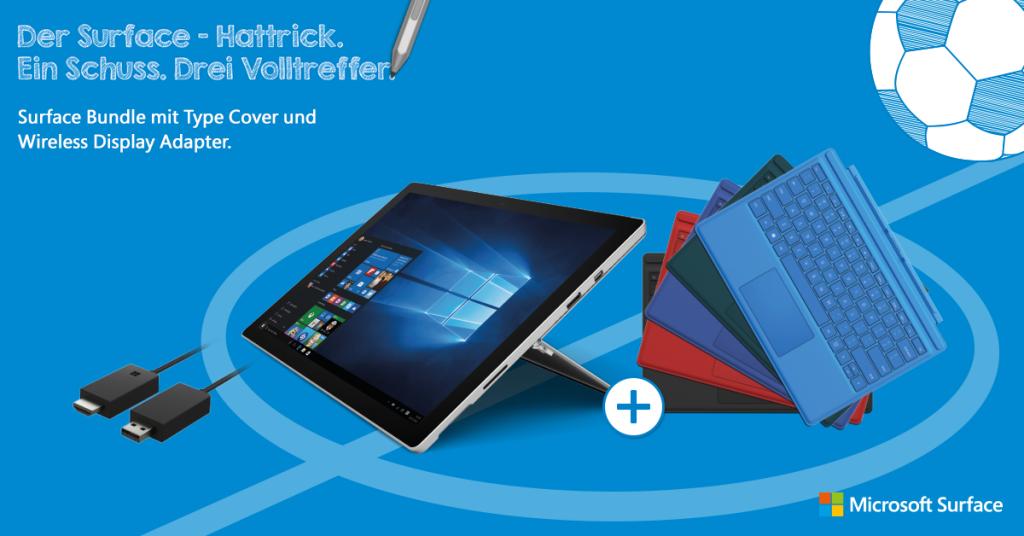 Surface Pro 4 Hattrick – Ein Schuss. Drei Volltreffer.