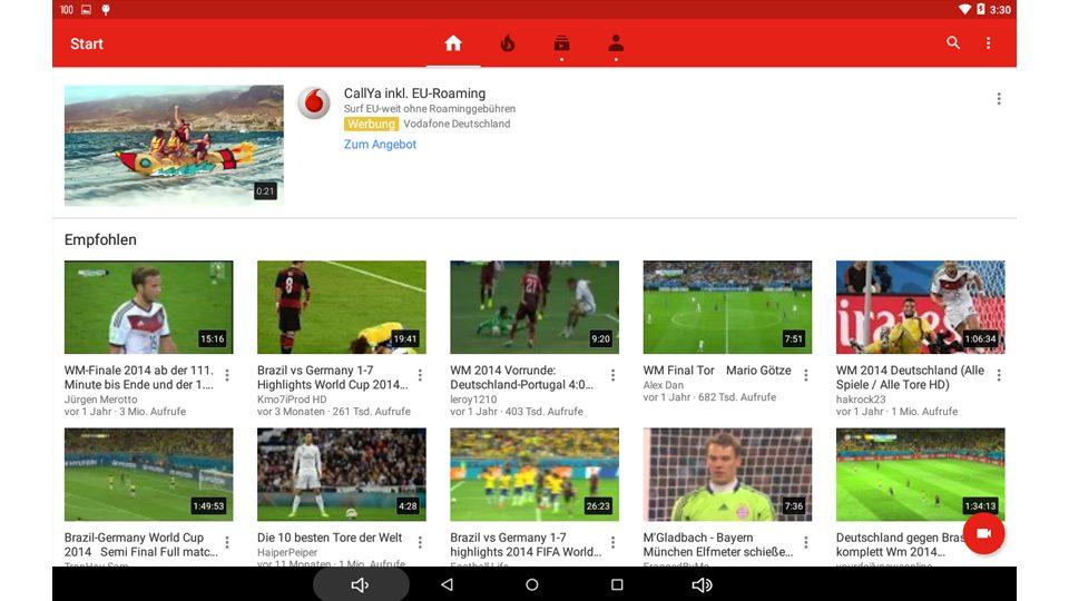 MP100i Anwendungsbeispiel: Youtube