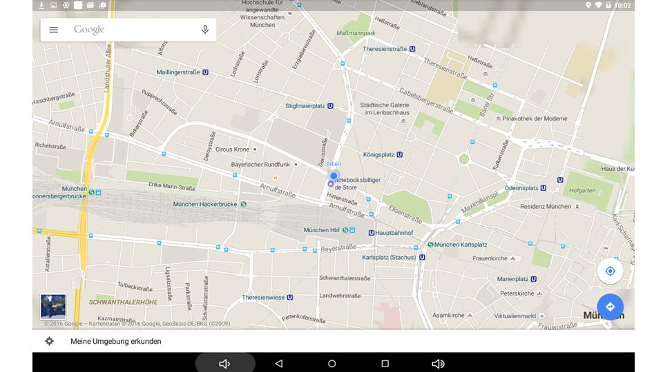 MP100i Anwendungsbeispiel: Googel Maps