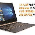 Der dünnste Laptop im Test: 10,4 mm flaches HP Spectre 13 mit Core i7 und Windows 10