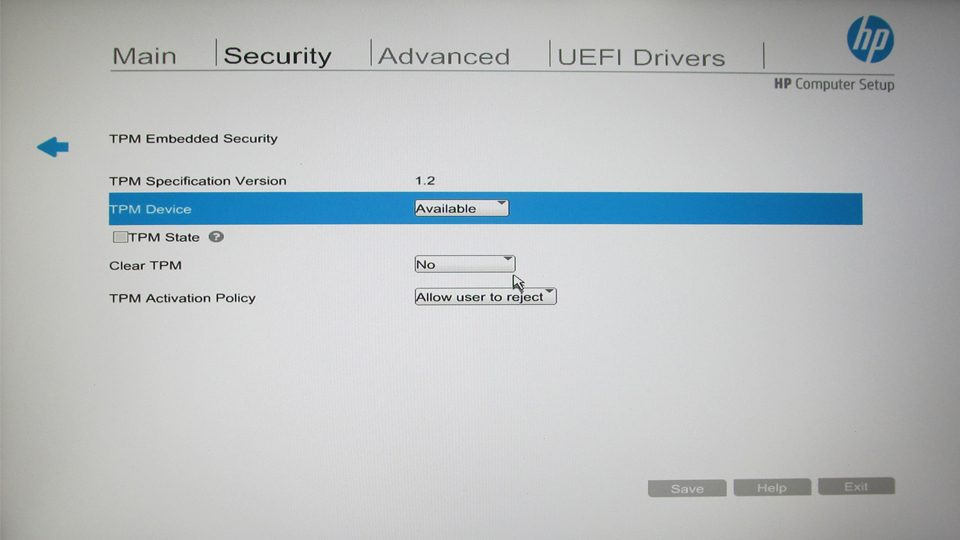 TPM Embedded Security