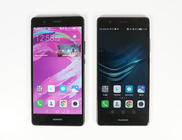 Huawei P9 Lite Vorderansicht P9 und P9 Lite