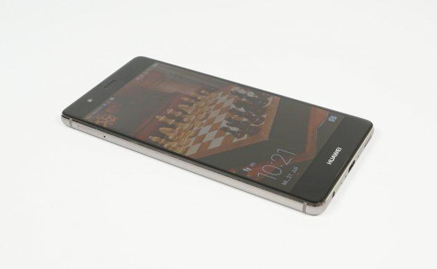 Huawei P9 liegend Display an
