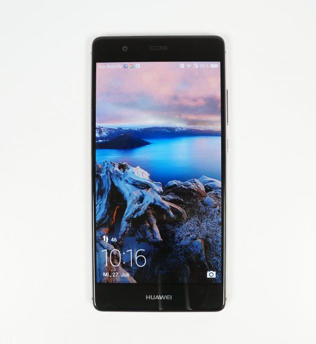 Huawei P9 von vorne Display an