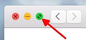 OS X geteilte Darstellung Vollbildmodus halten