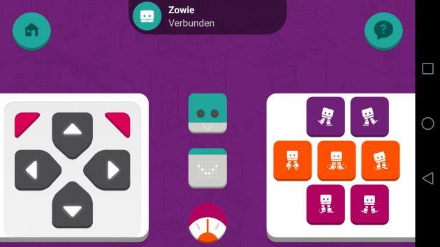 Zowie App Bewegungssteuerung