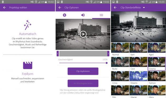 Videobearbeitung auf dem Smartphone: Adobe Premiere Clip