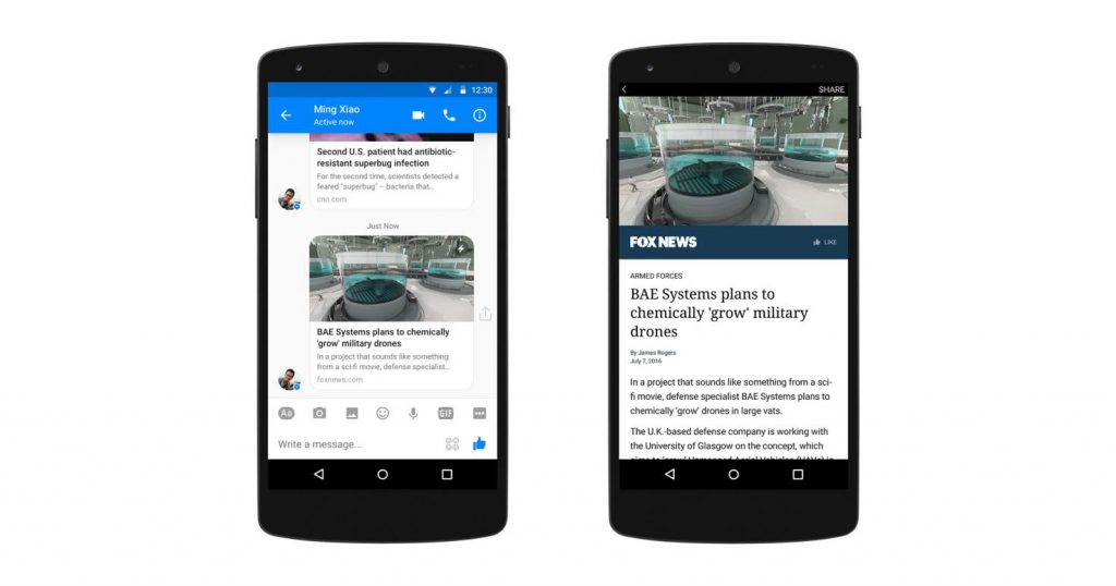 Instant Articles jetzt auch im Messenger verfügbar