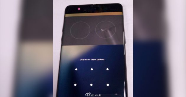 Samsung Galaxy Note 7: Fotos Iris-Scanner