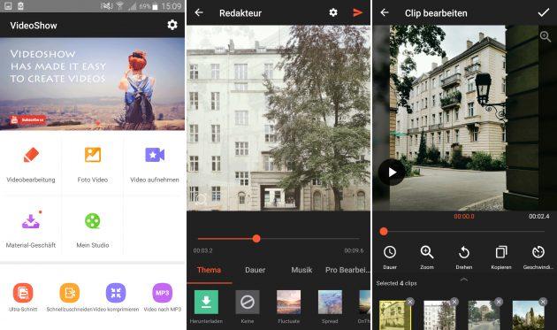 Videobearbeitung auf dem Smartphone: Video Show Maker