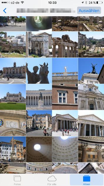Apple Fotofreigabe 09 Fotos auswaehlen