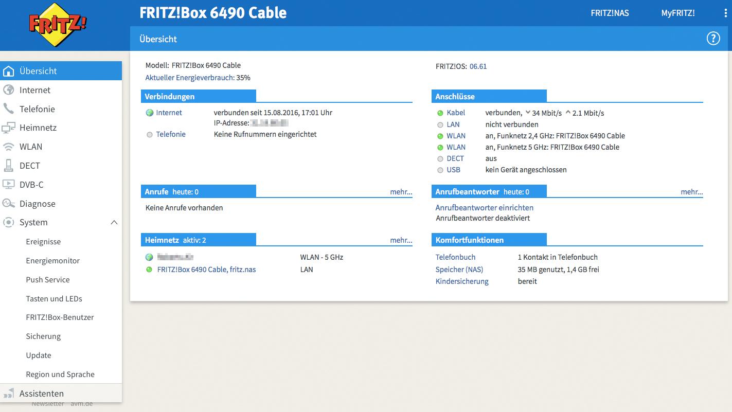 Test Gewinnspiel Avm Fritz Box 6490 Cable