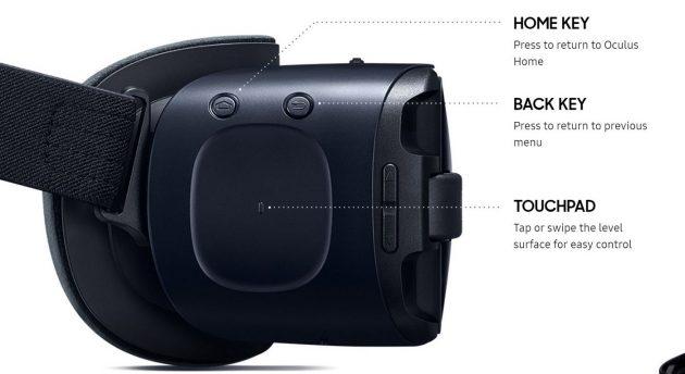 Die neue Samsung Gear VR besitzt überarbeitete Bedienelemente.